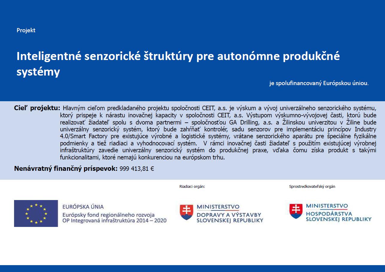 Inteligentné senzorické štruktúry pre autonómne produkčné systémy